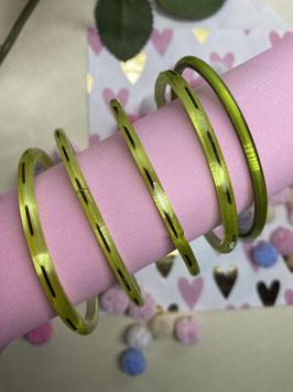 Lichtgroene armbanden 5 STUKS