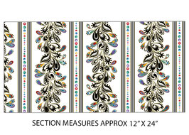 Stripe White Multi, PurrFect Together for Benartex by Ann Lauer, 11067850718