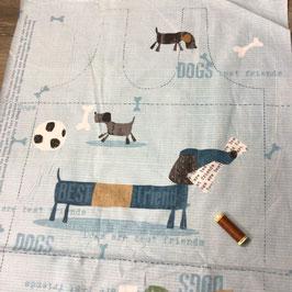 Patchwork Panel Hunde-beutel