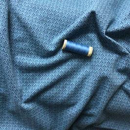 Jacquard-Jersey, kleines Muster mittelblau-anthrazit
