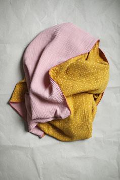 Musselindecke rosa/ocker