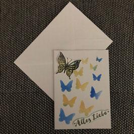 """Karte """"Liebe Schmetterlinge"""""""