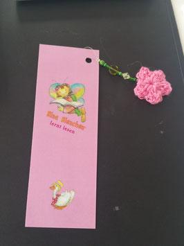 Bina Bienchen Lesezeichen, Blüte aus Wolle