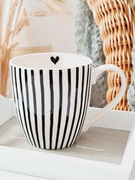 Tasse mit Streifen - SUNNY