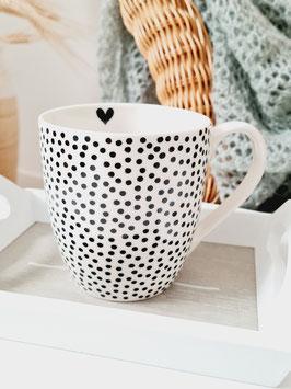 Tasse mit Punkten - SUNNY