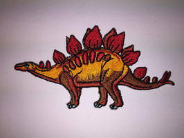 Oranje rode Stegosaurus dinosaurus applicatie