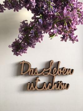"""3D-Holzletter """"Leben"""""""