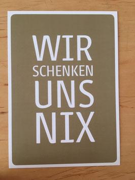 """Postkarte """"Schenken"""""""