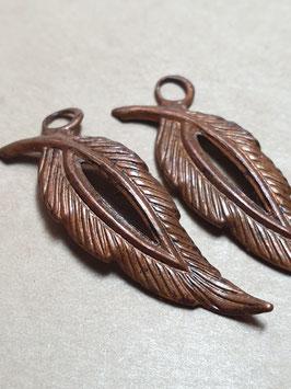 Vintaj Artisan Copper Open Leaf