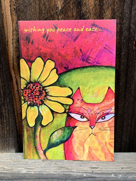 Cat and Flower - Postcards