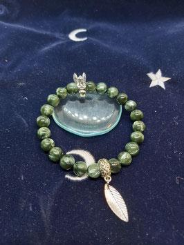 bracelet pendentif seraphinite