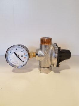 Régulateur de pression avec manomètre pour installation adoucisseur