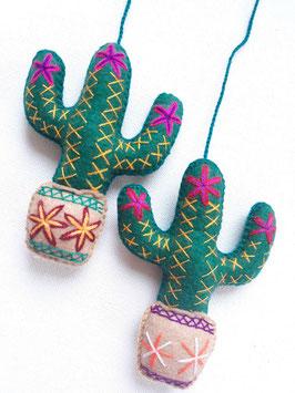 Kaktus Deko, bestickt (3)
