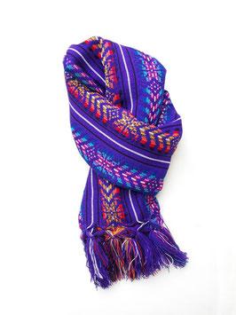 Boho Schal/ Tuch lila mit Streifenmuster aus Mexiko