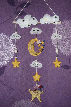 Mobile lune étoiles