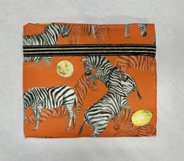 Nähpaket Blusenshirt orange Zebra
