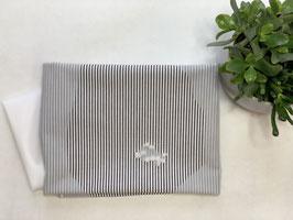 Nähpaket 'Bluse Streifen schwarz weiß schmal'