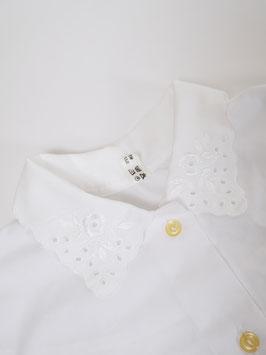 white collar floral