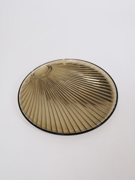 serving plate brown glass