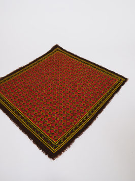 pattern scarf red