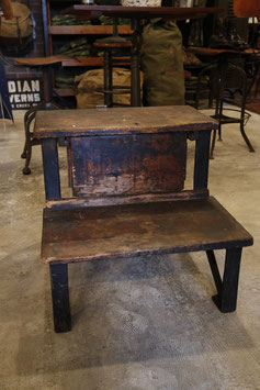 1900's  WOODEN/IRON  SHOE  FACTORY  STAIRS  TOOL BOX