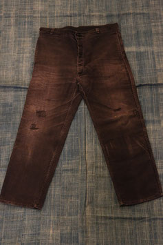 1960's  FRENCH  WORK  TROUSERS