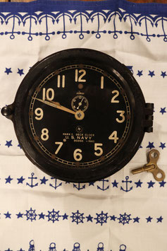 1940's  US  NAVY  MARK ⅠDECK CLOCK  MADE  BY  CHELSEA  CLOCK  CO.