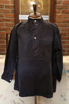 1920~40's  FRENCH  NAVY  LINEN  MILITARY  TOP  INDIGO