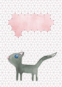 Designkarten-Set 'Katze' 5 Stück