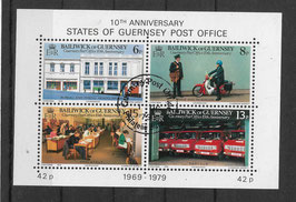 Guernsey Block 2 gestempelt