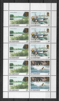 Guernsey MH 289A+292A+290A postfrisch senkrechter Zusammendruck