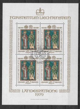 Liechtenstein Kleinbogen 734 gestempelt