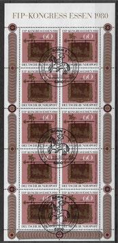 Bund Kleinbogen 1065 gestempelt