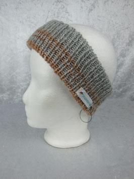 Stirnband in grau-braun Tönen