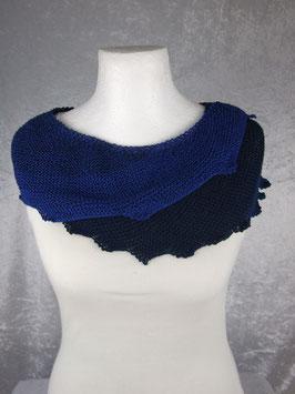 Drachenschal in Blautönen aus 100% Baumwolle