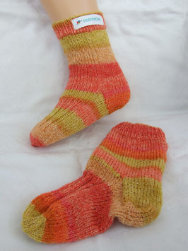 "Kinderstricksocken ""Sunset"""