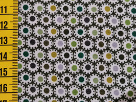 Jersey mit Punkten Schwarz/Grün