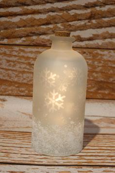 Schneeflocken Flasche