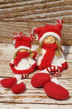 Weihnachts- Mädchen, sitzend