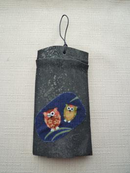 ふくろう壁飾り(紺)