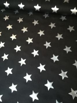 Jersey schwarz mit silbernen Sternen, Grundpreis: 16,90€/m