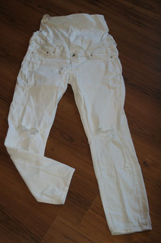 Son506 Skinny Ankle Hogh Rib Jeans 40 weiss