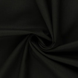 Schwarz Baumwolle/Webware