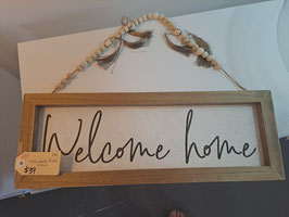 """BRAND NEW """"Welcome Home"""" Sign"""