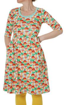 NEU: Kurzarmkleid für Damen mit Veilchen auf Mint von DUNS