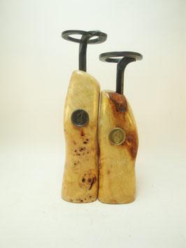 Pfeffermühlen Salzmühlen Set Pappel Maser mit handgeschmiedeter Kurbel
