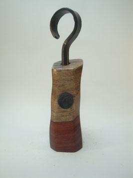 Pfeffermühle aus Bubinga mit handgeschmiedeter Kurbel