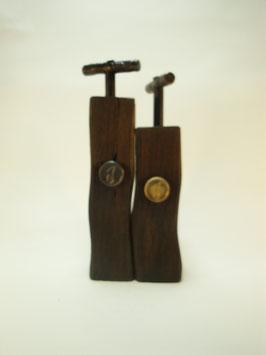 Pfeffermühlen Salzmühlen Set Mooreiche mit Kurbel