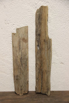 2 Stück Treibholz / Schwemmholz