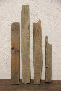 4 Stück Treibholz / Schwemmholz
